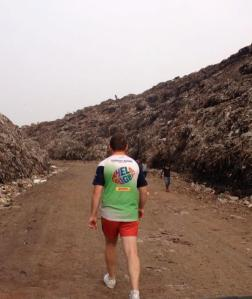 Curt making his way up and into the Dhapa