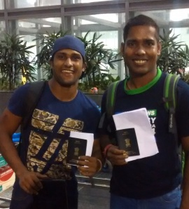 Tiger and Nanda to NZ